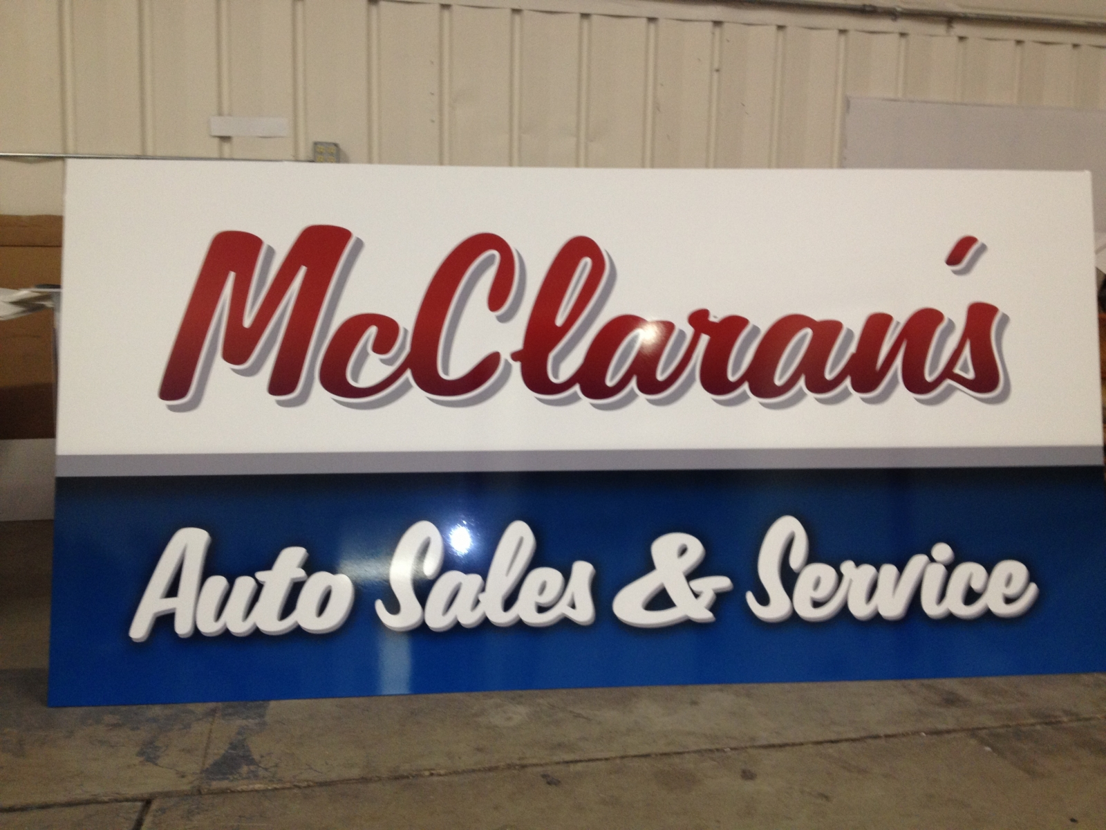 Exterior Sign with Gloss Laminate