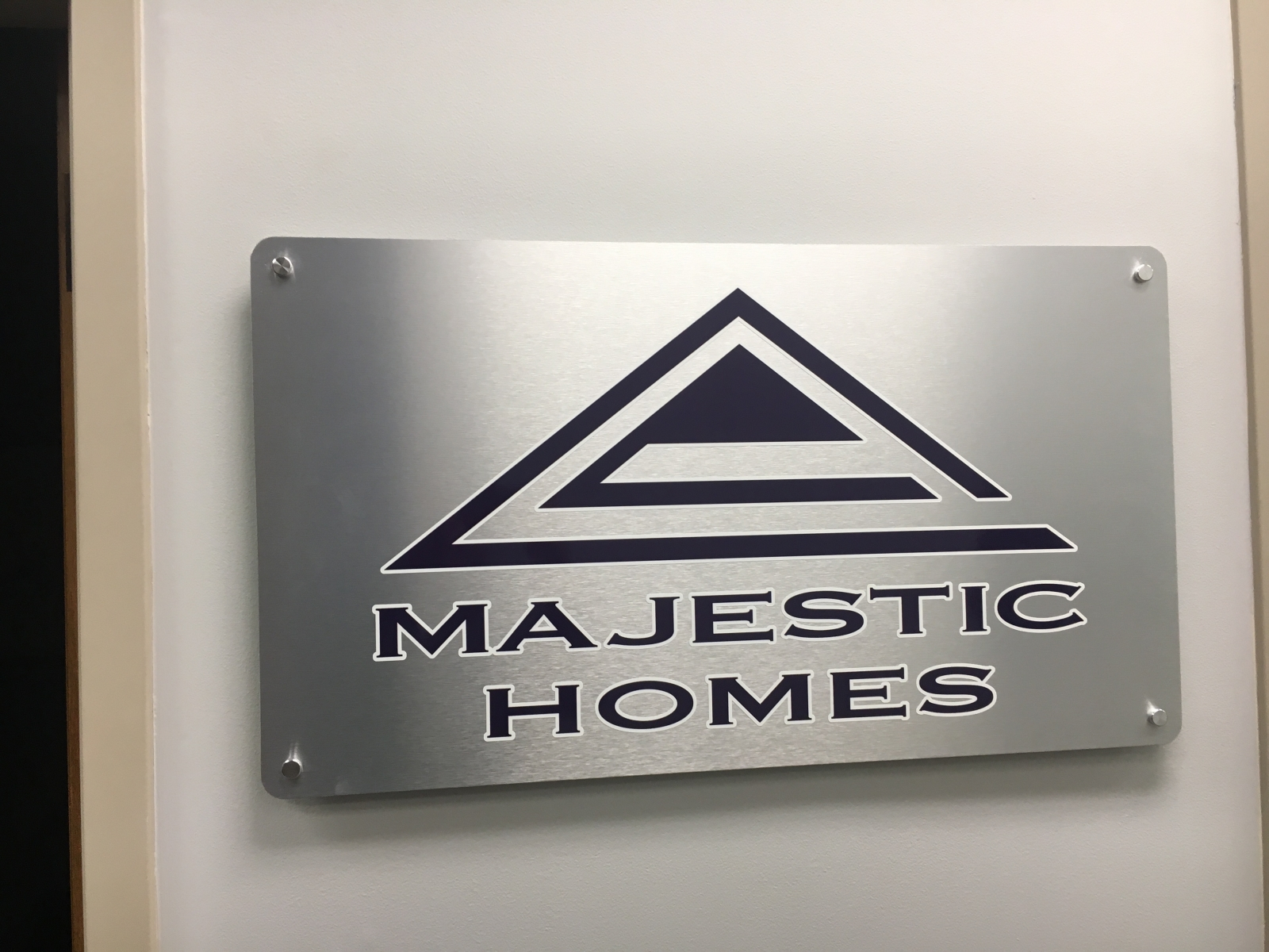 Aluminum Composite Sign with Stand-Offs